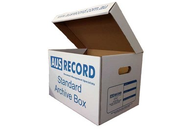 Ausrecord standard archive box document management perth western australia