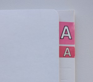 Many of Ausrecords labels come in full size and half size varieties, allowing you to customise your indexing system.